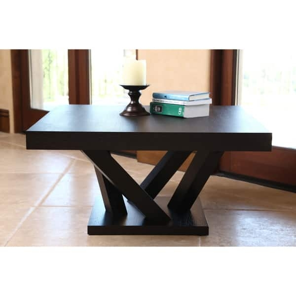 Amazing Favorite Cosmo Coffee Tables Intended For Abson Cosmo Espresso Wood Square Coffee Table Free Shipping (View 14 of 50)