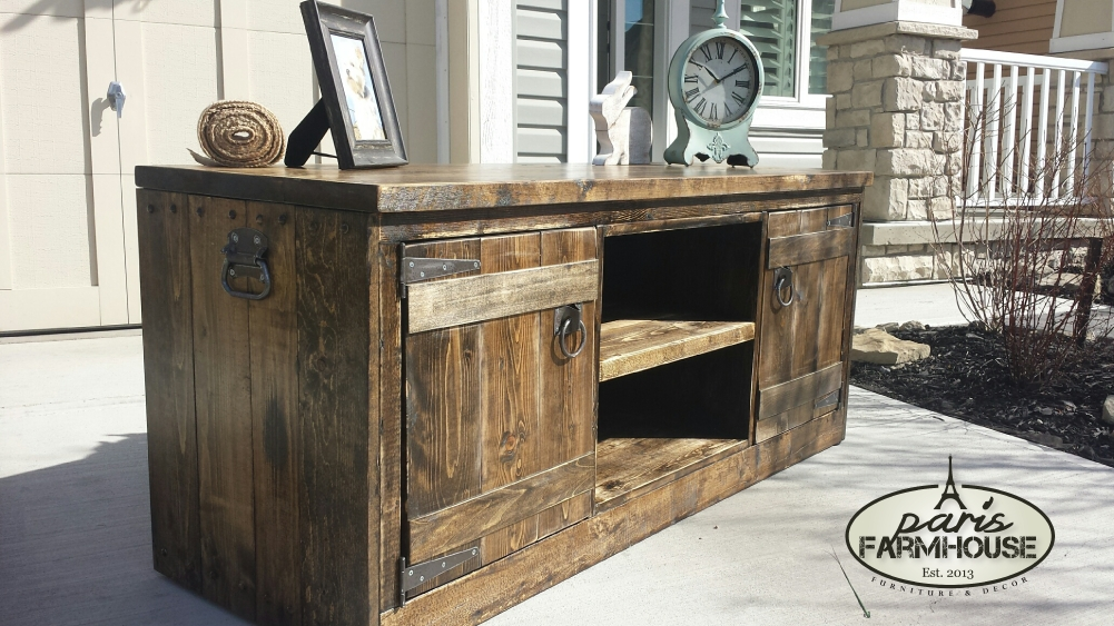 Amazing Favorite Dark Walnut TV Stands Pertaining To Rancher Tv Stand Large 2 Doors 1 Shelf Dark Walnut  (Image 2 of 50)