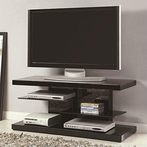 Amazing Favorite Iconic TV Stands Throughout Best 25 Black Glass Tv Stand Ideas On Pinterest Penthouse Tv (Image 1 of 50)