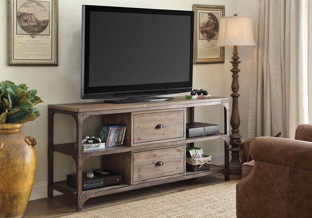 Amazing Favorite Industrial Style TV Stands With Regard To Industrial Style Tv Stand (View 29 of 50)