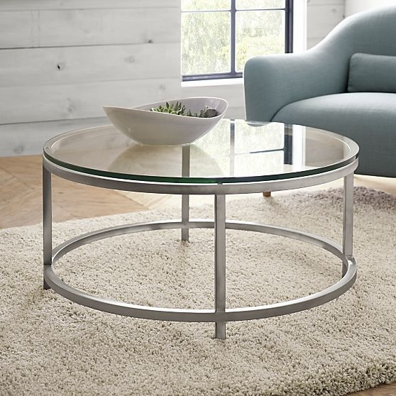 25 Inch Round Glass Coffee Table: 50 Photos Mercury Glass Coffee Tables