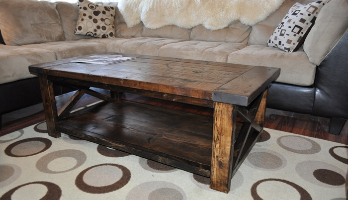 Amazing Favorite Rustic Style Coffee Tables Regarding Living Room Best Farmhouse Coffee Table Hack Intended For Plan The (View 43 of 50)