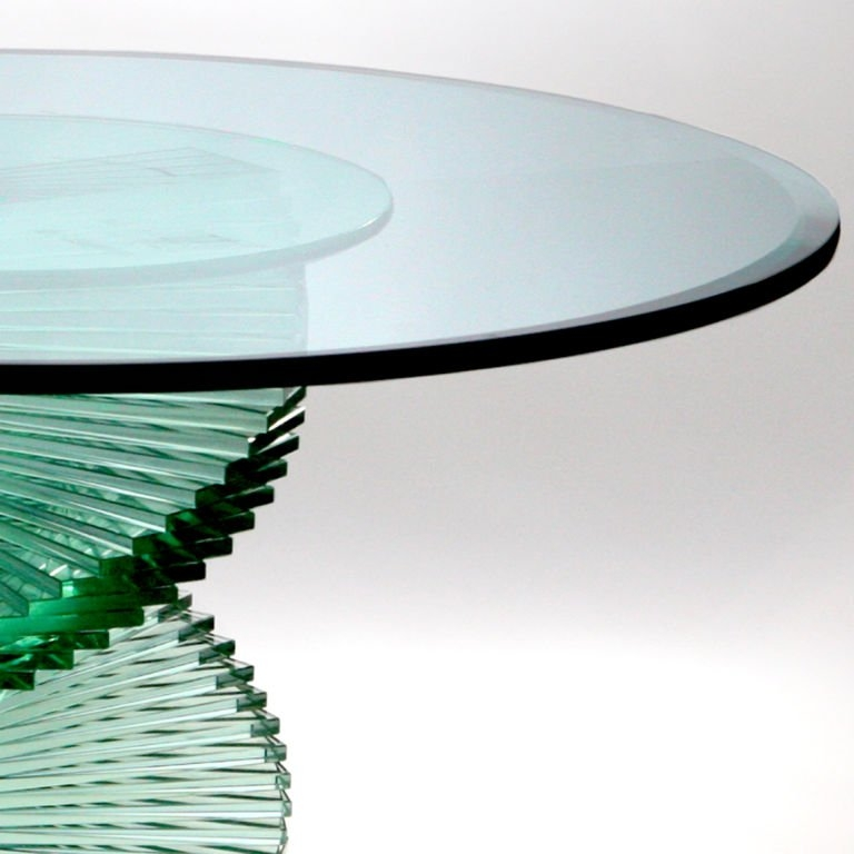 Amazing Favorite Spiral Glass Coffee Table Within Glass Spiral Table At 1stdibs (Image 4 of 50)