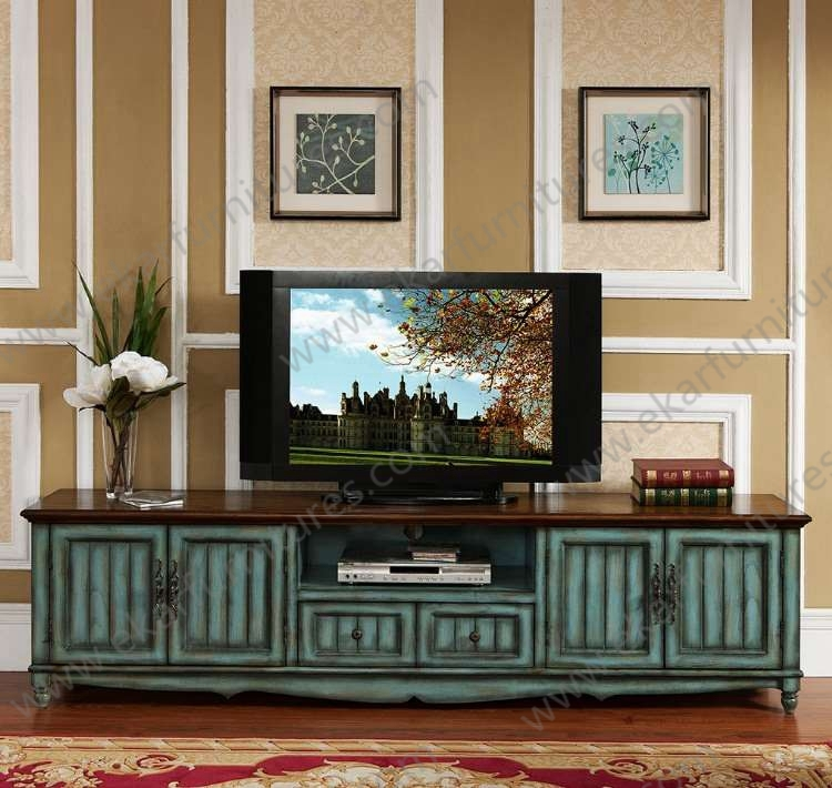 Amazing Favorite Vintage Style TV Cabinets In Old Style Vintage Long Seafoam Green Tv Stand M  (Image 1 of 50)