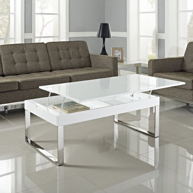 Amazing Favorite White And Chrome Coffee Tables For 78 Best Coffee Table Images On Pinterest (Photo 29 of 50)
