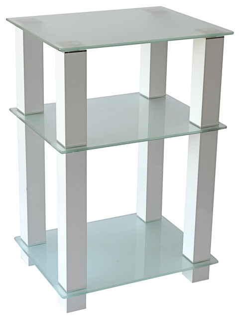 Amazing Favorite White Tall TV Stands Inside 20 Extra Tall Glass And White Tv Stand And Utility Table Or End (Image 3 of 50)