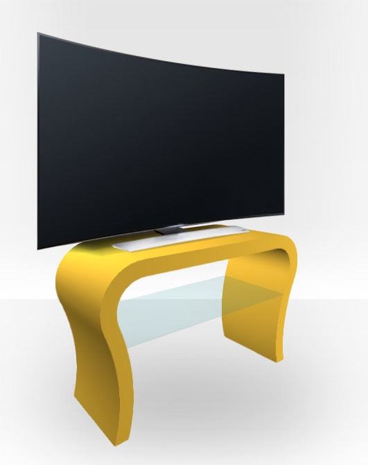 Amazing Favorite Yellow TV Stands In Yellow Matt Tv Stand Curved Free Uk Delivery Zespoke (View 25 of 50)