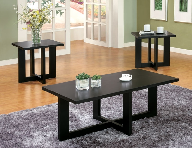 Amazing High Quality 2 Piece Coffee Table Sets For 3 Piece Occasional Table Set In Black Finish Coaster (View 49 of 50)