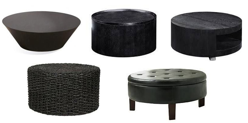 Amazing High Quality Black Circle Coffee Tables Regarding Industrial Loft Look On A Budget Stacy Risenmay (Image 2 of 50)