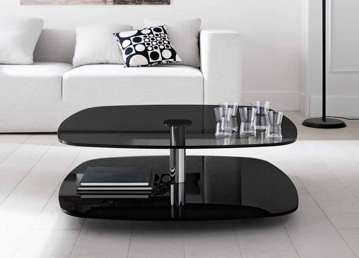 Amazing High Quality Black Glass Coffee Tables Inside Best 25 Black Glass Coffee Table Ideas That You Will Like On (Image 1 of 50)