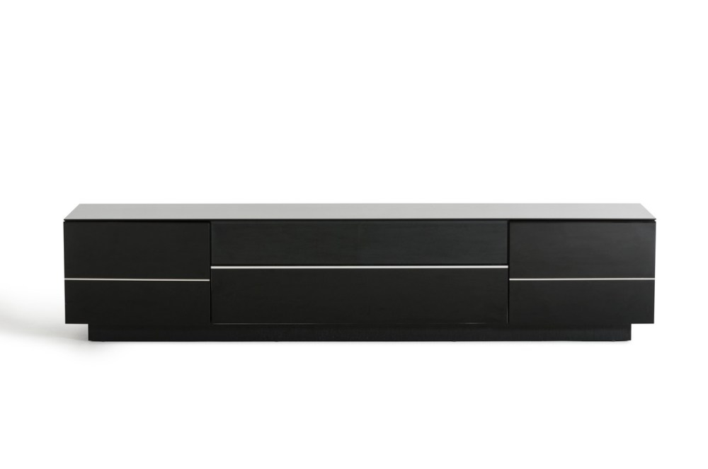 Amazing High Quality Black Modern TV Stands With Regard To Black Modern Tv Stand Home Design Ideas (Image 1 of 50)