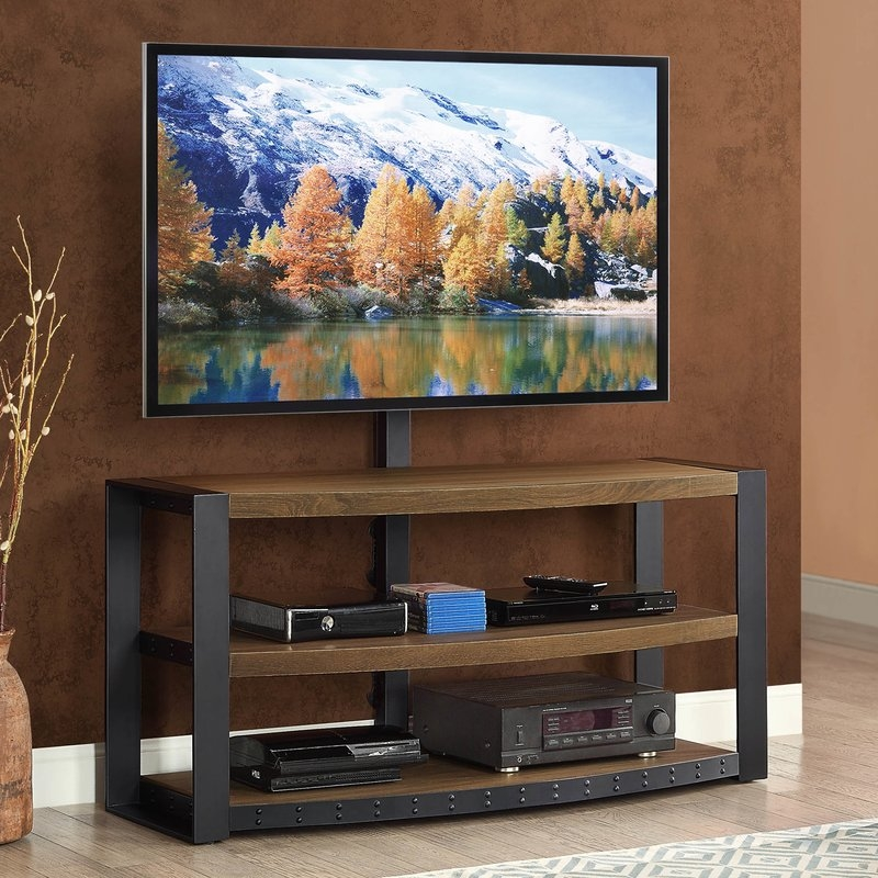 Amazing High Quality Brown TV Stands Intended For Trent Austin Design Hylton 54 Tv Stand Reviews Wayfair (View 25 of 45)