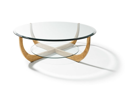 Amazing High Quality Circle Coffee Tables With Mid Century Modern Coffee Table Round Classic Wooden Brown White (Image 2 of 50)