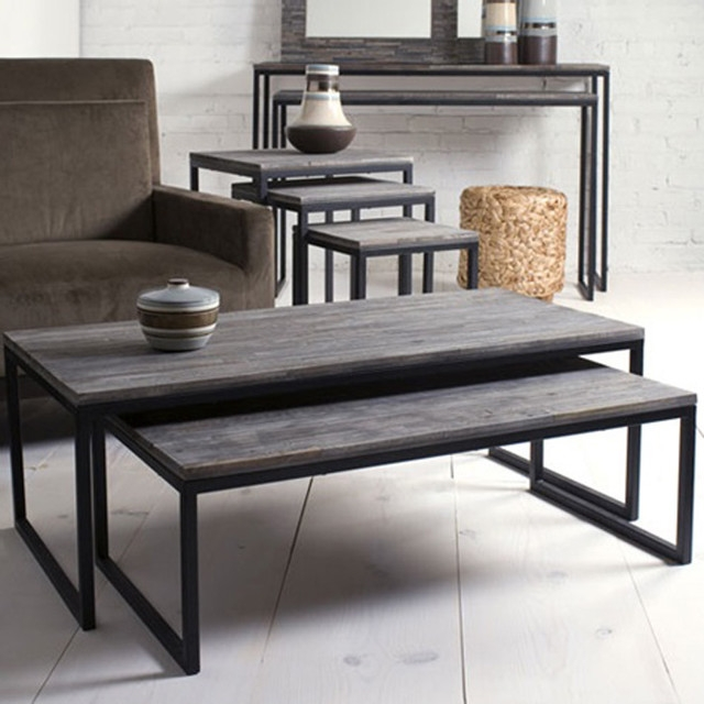 Amazing High Quality Coffee Tables With Nesting Stools Intended For Living Room The Most Vittsj Nesting Tables Set Of 2 Black (Image 3 of 50)