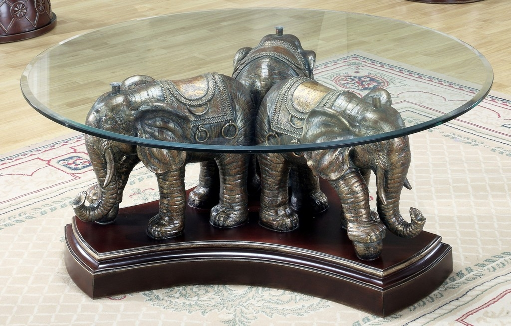 Amazing High Quality Elephant Coffee Tables With Glass Top Throughout Furniture Elephant Coffee Table Ideas Elephant Glass Table (Image 1 of 40)