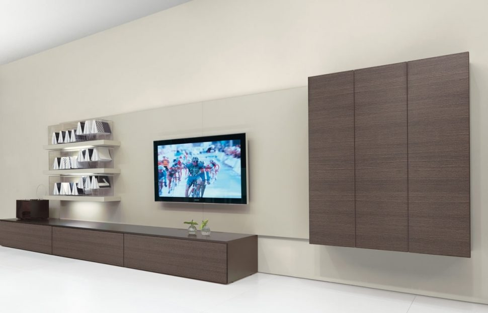 Amazing High Quality Enclosed TV Cabinets For Flat Screens With Doors For Living Room Furniture Black Grey Enclosed Tv Cabinets Flat (Image 3 of 50)