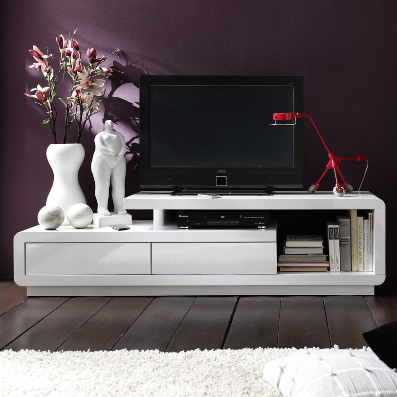Amazing High Quality Large White TV Stands Regarding Tv Stands 10 Interesing Tv Stands For 65 Flat Screens Design (Image 1 of 50)