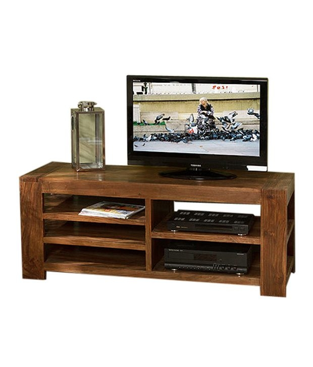 Amazing High Quality Sheesham Wood TV Stands Within Royal Homz Sheesham Wood Simple Tv Stand Buy Royal Homz Sheesham (View 24 of 50)