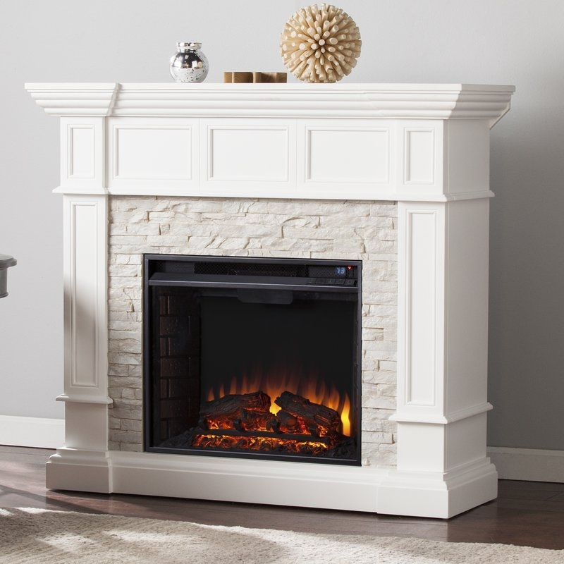 Amazing High Quality Silver Corner TV Stands With Fireplace Mantel Packages Youll Love Wayfair (Image 5 of 50)