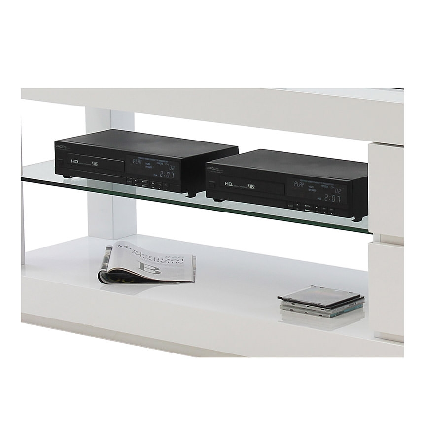 Amazing High Quality White TV Stands Regarding Max White Tv Stand El Dorado Furniture (Image 2 of 50)
