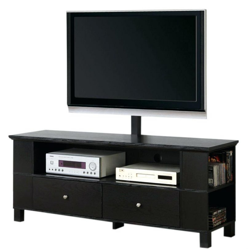 Amazing Latest Black TV Cabinets With Drawers Intended For Black Tv Console Table Flideco (Image 2 of 50)