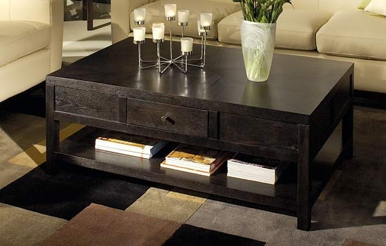 Amazing Latest Dark Wood Square Coffee Tables Within Dark Wood Coffee Table (Image 5 of 50)