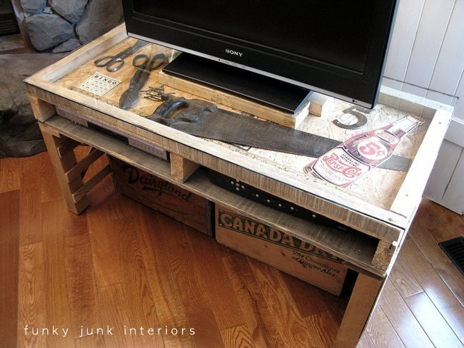 Amazing Latest Funky TV Stands With Party Junk 202 Cool Diy Tv Standsfunky Junk Interiors (Image 3 of 50)