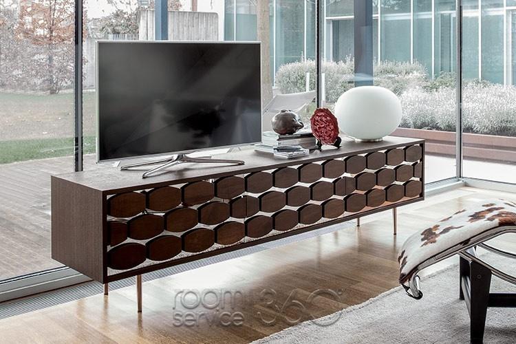 Amazing Latest Honey Oak TV Stands Regarding Honey Modern Tv Stand Tonin Casa Made In Italy (View 39 of 50)