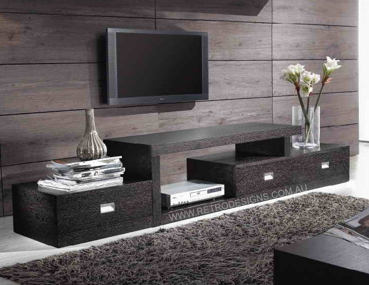 Amazing Latest Long Black TV Stands With Regard To Ella Tv Cabinet In Step Design Plus Drawers Only 649 Quality (View 45 of 50)