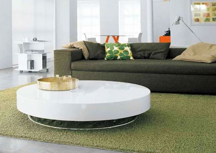 Amazing Latest Round High Gloss Coffee Tables With Regard To White High Gloss Round Coffee Table (View 8 of 50)