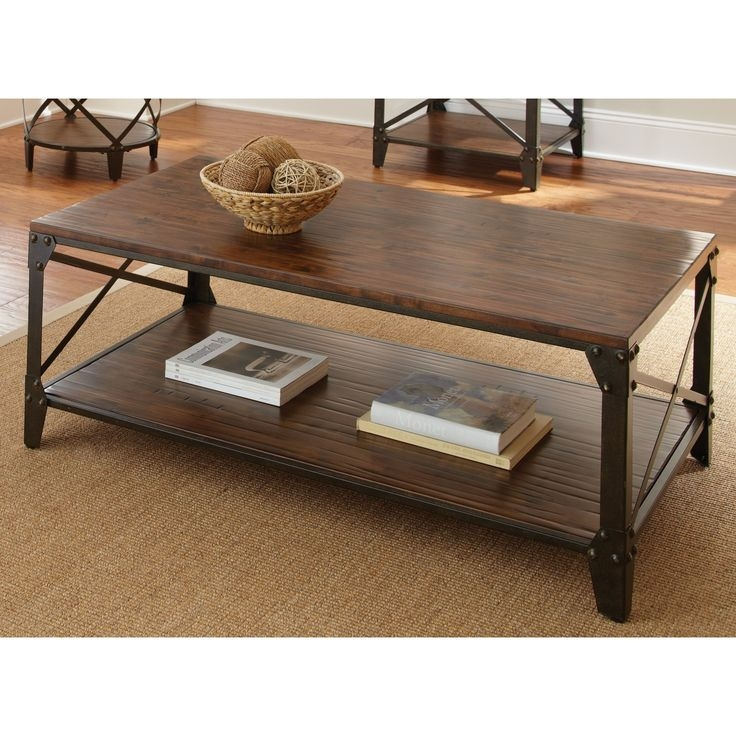 Amazing Latest Rustic Coffee Tables With Bottom Shelf For 316 Best Accent Tables Images On Pinterest (Image 3 of 50)