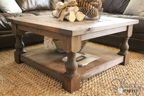 Amazing Latest Rustic Storage DIY Coffee Tables Pertaining To Living Room Top Coffee Tables Storage Inside Square Wood Table (Image 4 of 50)