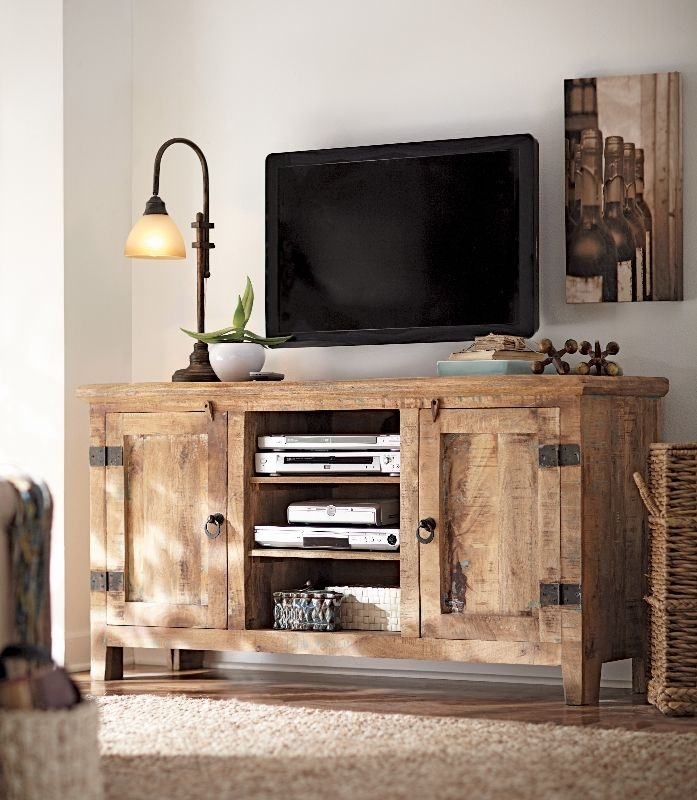 Amazing Latest Rustic White TV Stands Intended For Best 10 Reclaimed Wood Tv Stand Ideas On Pinterest Rustic Wood (Image 3 of 50)