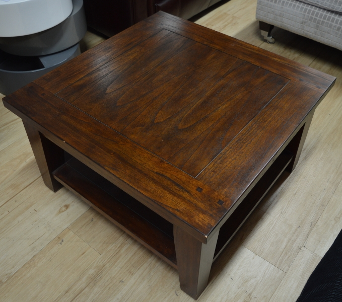 Amazing Latest Square Dark Wood Coffee Tables Pertaining To Classic Murano Dark Wood Square Coffee Table Sold (Image 1 of 50)