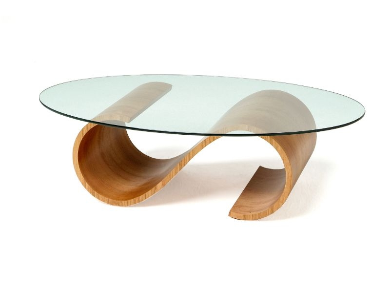 Amazing Latest Swirl Glass Coffee Tables For Good Looking Oval Glass Coffee Table (Image 2 of 50)
