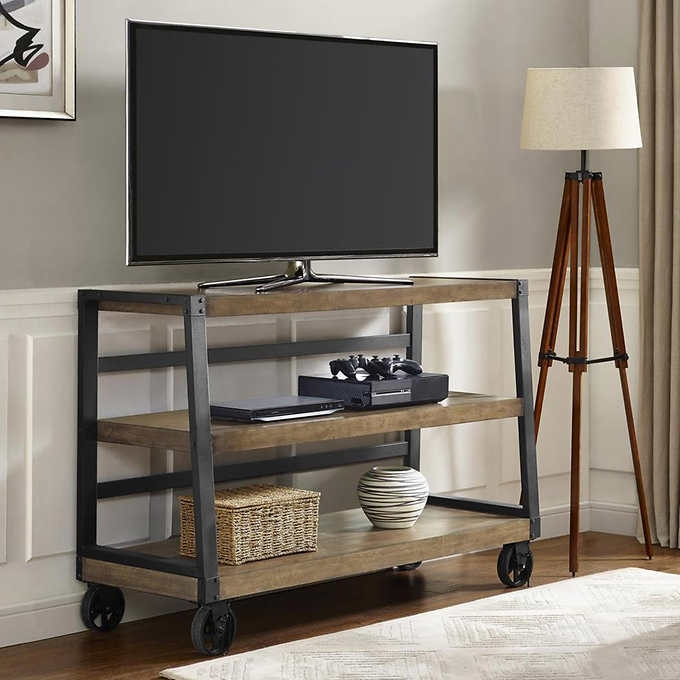 Amazing Latest White Tall TV Stands Pertaining To Tv Stands Brandnew Credenza Tv Console 2017 Collection Large Tv (Image 4 of 50)