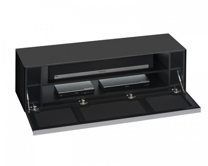 Amazing New Black Glass TV Stands With Regard To Sound Concept 7736 4573 Matt Black Glass Tv Stand With Black (View 24 of 50)