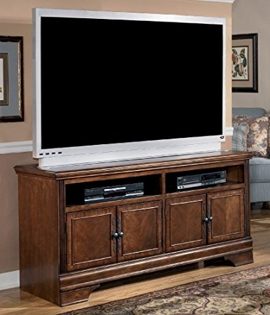 Amazing New Brown TV Stands Regarding Amazon Traditional Dark Brown Hamlyn Large Tv Stand Kitchen (View 6 of 45)