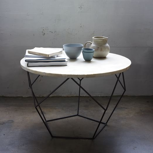 Amazing New C Coffee Tables Within Origami Coffee Table Medium West Elm (View 23 of 50)