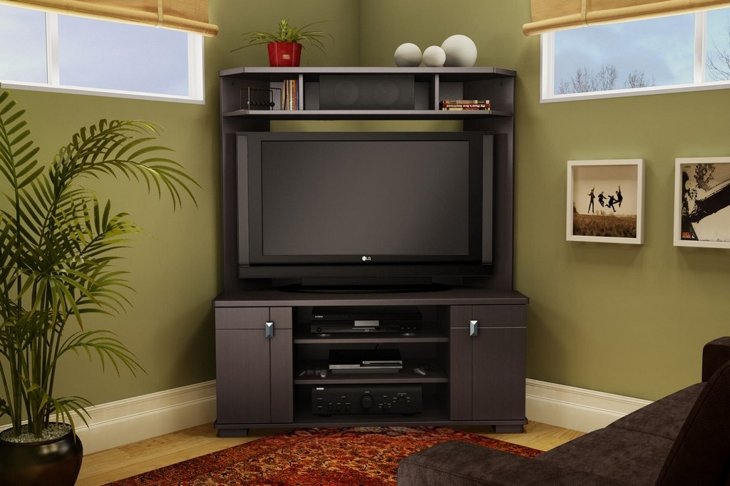 Amazing New Corner TV Stands For 46 Inch Flat Screen Inside Furniture Solid Wood Tv Stands And Cabinets Sideboards Cheap  (Image 3 of 50)