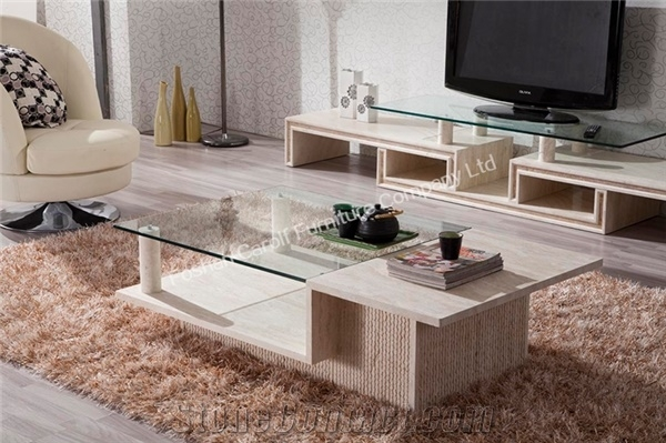 Amazing New Glass And Stone Coffee Table Pertaining To Interior Stone Page2 Foshan Carolf Furniture Company Ltd (Image 1 of 50)
