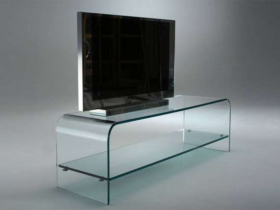 Amazing New Glass TV Stands Inside Curved Glass Tv Stand Tango (View 5 of 50)