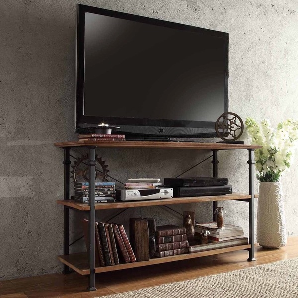 Amazing New Industrial TV Stands Regarding Tv Stands Modern Glass Corner Tv Stands For Flat Screen Tvs Ideas (Image 5 of 50)
