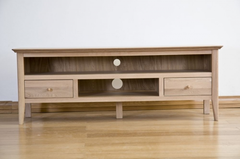Amazing New Large Oak TV Cabinets With Regard To Buy Sorrento Oak Tv Cabinet Large Online Cfs Uk (Image 1 of 50)