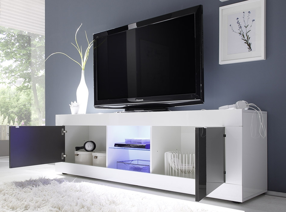 Amazing New Large White TV Stands Within Tv Stands Amusing White Tv Stand Walmart 2017 Design White Tv (Image 2 of 50)