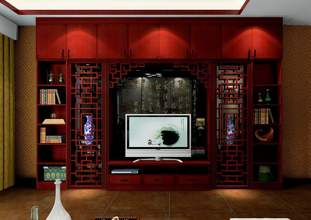 Amazing New Mahogany TV Cabinets With Chinese Mahogany Tv Cabinet Combination Interior Design (View 44 of 50)