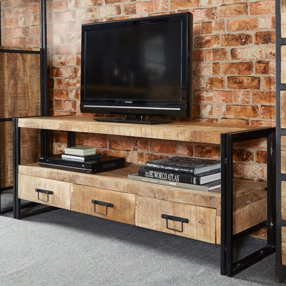 Amazing New Mango Wood TV Stands With Industrial Tv Stands Wayfaircouk (Image 3 of 50)