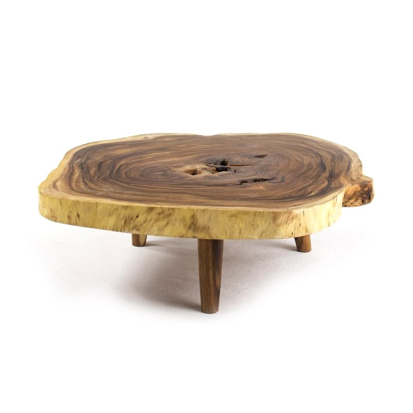 Amazing New Oblong Coffee Tables With Regard To Oblong Double Tamboril Tree Root Section Coffee Table Tunico T (Image 3 of 40)
