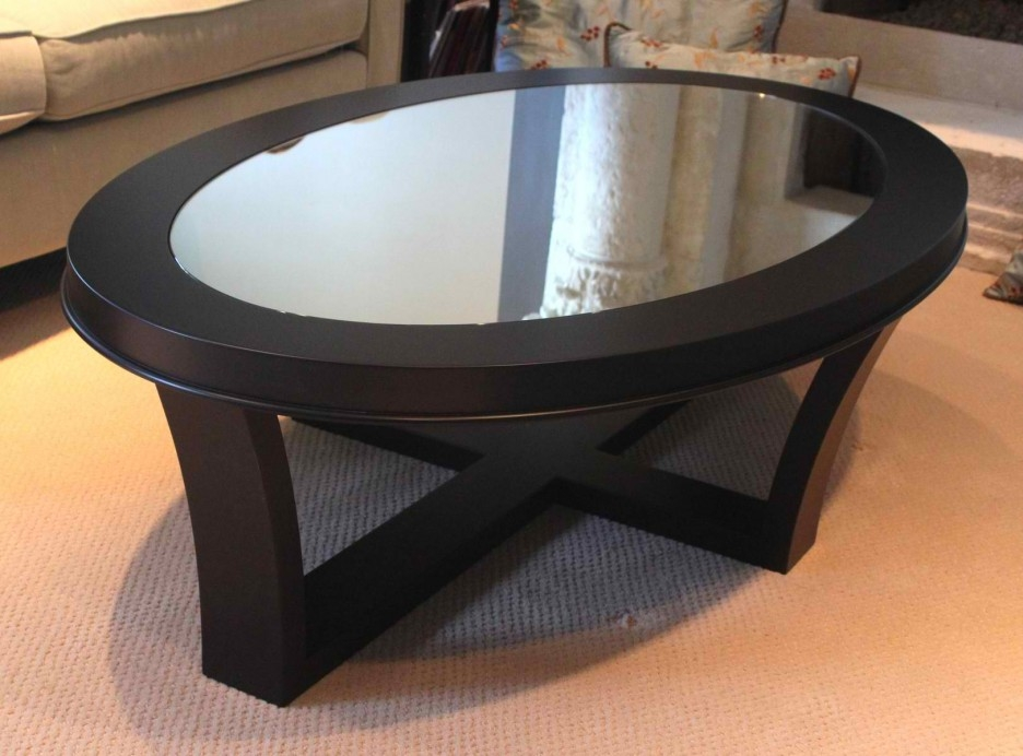 Amazing New Oval Shaped Glass Coffee Tables Pertaining To Living Room Wondeful Glass Top Coffee Table Furniture Ideas With (Image 3 of 50)