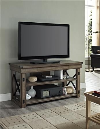 Amazing New Reclaimed Wood And Metal TV Stands For Ameriwood Furniture Altra Furniture Rustic Tv Console With Metal (Image 4 of 50)